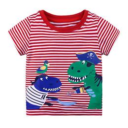 Deutschland Jungen Top T Shirts Dinosaurier Gedruckt Shirt Baby Tees Sommer Kleidung Cartoon Kinder T-shirts Für Jungen Kleidung Kinder Versorgung