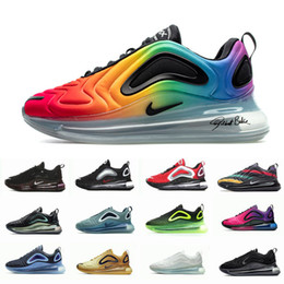 Nike air max 720 2019 Neue Schuhe Voll Gepolsterte Männer Frauen Neon Dreifach Schwarz GRÜN KARBON Carbon Grau Sonnenuntergang Metallic Silber