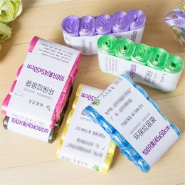 Sac poubelle renforcé nouveau matériau couleur cuisine salle de bain ménage point de rupture du sac en plastique 5 rouleaux 100 pcs / sac ? partir de fabricateur