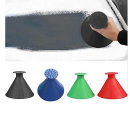 Nuovo servizio di pulizie Magic Window parabrezza Raschiaghiaccio cono a forma di imbuto Neve di rimozione di 4 colori SN07 da
