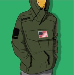 Impermeabilizzazione bandiera online-17SS Expedition Pullover Jacket Uomo Donna Cappotti Moda Bandiera Capispalla Giacca impermeabile di alta qualità Giacca da strada S ~ XL HFWPJK128