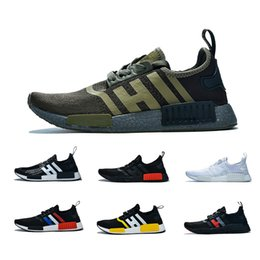 half off a635b 18a80 2019 r1 giallo 2019 atmos NMD R1 Bred Running Shoes Tri-Color OG Classic Men