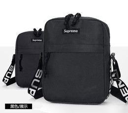 supreme backpack channel bag louis vuitton gucci msup Unisex Moda Bolso de cintura Hombres Lienzo Hip-Hop Cinturón Bolso Hombres Mensajero Bolsas 18ss Pequeño Hombro A05 desde fabricantes
