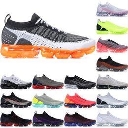 scarpe da tennis multi colore Sconti 2020 Fly 2.0 CNY Multi-Color Scarpe da corsa donne degli uomini di mezzanotte viola Bred Triple Nero Volt Bianco Zebra BHM Orca Knit Sneakers 36-45