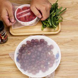 venda de alimentos por atacado Desconto Atacado 2 pçs / set Silicone Wraps Seal Cover Trecho Aderente Filme Comida Fresca Manter Tampa Da Cozinha Ferramentas
