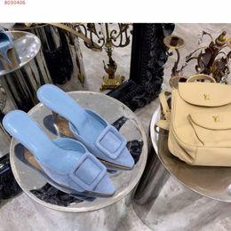 stilvolle dame schuhe ferse Rabatt 2019 Frühling und Sommer neue importierte Damenschuhe aus echtem Leder Stilvoll mit spitzen Zehen Lady Mitte der Ferse Hausschuhe