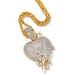 2019 zahl halsketten Micro-Zirkon-Blitz durch Herz Drop Love Nummer 2 Herzförmige Anhänger High-End-Hip Hop-Halskette in Europa und Amerika günstig zahl halsketten