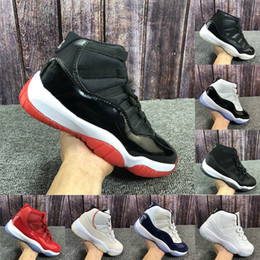 2019 scarpe da pallacanestro onemix Jumpman 11 11s Bred 2019 Concord 45 23 scarpe da basket Platinum Cap tinta ed abito Space Jam Heiress Palestra Red sneakers all'aperto stivaletti