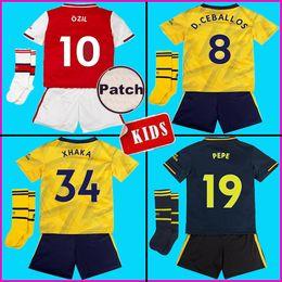 Футбол джерси набор желтый красный онлайн-Arsenal Наборы для взрослых для взрослых 19 20 PEPE COUTINHO футбол джерси 2019 2020 HENRY BERGKAMP VIEIRA JERSEYS Мужская футболка