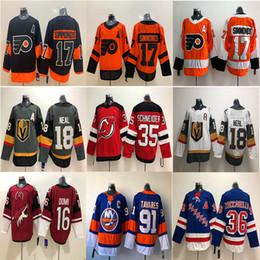 Рейнджеры хоккейные майки онлайн-Vegas Golden Knights Филадельфия Флайерз Нью-Йорк Рейнджерс Джерси 36 Цуккарелло 18 Neal 17 Уэйн Симмондс Хоккеисты трикотажных изделий
