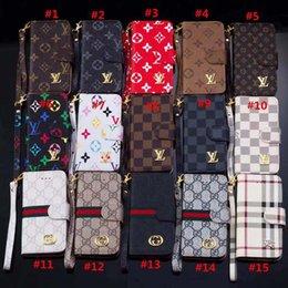 telemóveis flip Desconto Moda carteira caso de telefone para o iphone xs max xr 8 6 s além de virar couro celular tampa do escudo para samsung s10 nota 8 5