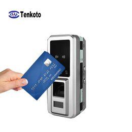 2019 impressão digital Controle de Acesso por ID de impressão digital Leitor NFC Colocar Quatro Baterias China Inteligente RFID Fácil Instalar Fechadura Da Porta Inteligente impressão digital barato