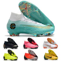 superflys de fútbol Rebajas Original marca Mercurials Superflys VI 360 Elite FG CR7 zapatos de fútbol de moda botas de fútbol zapatillas para hombres negro rojo verde azul v020