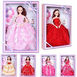 anime de boneca rebornado Desconto De acordo com doce barbie boneca brinquedos caixa de presente terno princesa boneca infantil dia menina presente