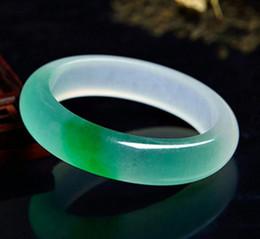 Jade bangles myanmar on-line-Jade Bangle Atacado Genuine Myanmar Esmeralda Quartz Rock Jade Um toque de fabricantes de pulseira de jade verde direta lote