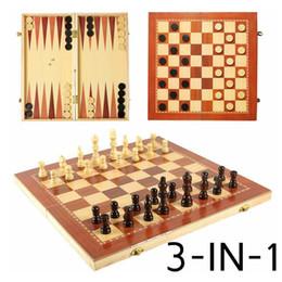 2019 jogos de xadrez madeira Torneio de Tabuleiro de Xadrez de madeira 3 em 1 Viagem Portátil Jogo de Xadrez Jogo de Xadrez Internacional Jogos de Gamão jogando Presente SH190907 desconto jogos de xadrez madeira