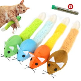 code del mouse Sconti Funny Cat Toy Mouse Catmint Interactive Toy Cat Rompicapo Giocattoli Coda lunga Scratch Riproduzione Training Giocattoli Catnip per gatti Gatti Topi Rat Prodotto