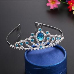 mujeres diademas de diamantes Rebajas Baby Rhinestone Crown Headband Girls Princess Crystal Crown Diamond Hairband Mujeres Headwear Kid Banda de pelo Accesorios