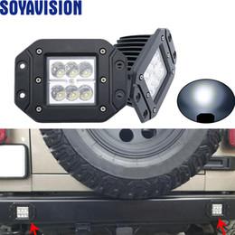 Luces led para atv utv online-2 unids 18 w Led luz de trabajo montaje empotrado Led cuadrado cubo viga del punto Offroad camión barco Atv Utv SUV 12V 24V luz de niebla llevada