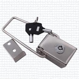 Leichte kastenstücke online-156mm 2 stücke metallschloss Elektrische Box haspe Toolbox Isolierung fall Dichtungskasten Wasserdichte Licht Werbung Box