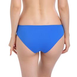 2019 amerikanischer sexy heißer bikini 2019 heißer Großhandel Nylon Qualität Sexy Frauen Strand Panty Europäischen Amerikanische Weibliche Bikini Bottom Royal Blue Swim Slip S-34 günstig amerikanischer sexy heißer bikini