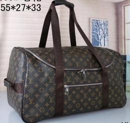 Noel Marka Moda L ve V duffle seyahat çantaları bagaj tasarımcı deri çanta büyük kılıf siyah kahverengi nereden