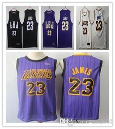 2c64e9b0e 23 LeBron James New 2 Lonzo Ball 0 Kyle Kuzma 14 Brandon Ingram 2019 James  Jersey Basketball Jerseys