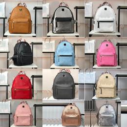 2019 zaino in pelle rosso azzurro bianco 2020 migliore qualità Designer BoxModa mini mcm zaino di lusso zaini borse di lusso Travel Bag Donne borse griffate ragazze zaino