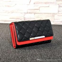 billetera de sublimación Rebajas Nuevo diseñador de lujo bolso monedero monedero rombal famoso marca de moda de moda sola cremallera barato diseñador de lujo mujeres pu billetera de cuero l