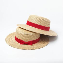 5ecf69a58599a Sombrero del sombrero de paja con borde rojo Ribete de playa Sombreros para  el sol de verano para vacaciones Damas Sombreros de vacaciones Protección  UV ...