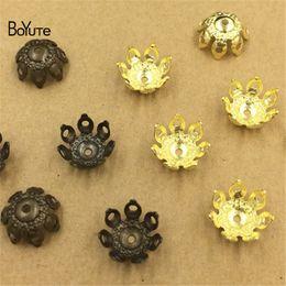 BoYuTe gros (200 pièces / lot) laiton en laiton emboutissant 10MM en filigrane fleur perle chapeaux bricolage bijoux accessoires ? partir de fabricateur