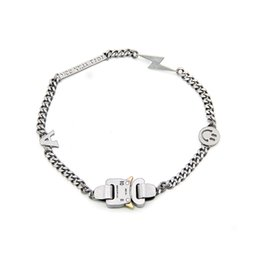 Catene di smiley online-1017 Collana di perle ALYX 9sm fulmini ALYX Eroe della collana della catena di Hip Hop ALYX Via Accessori Smiley