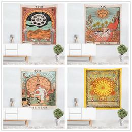 Argentina Europa y los Estados Unidos de color tarot imagen de la estrella sol luna estrellas salón dormitorio tapiz de la India Oriente Medio manta mural Suministro