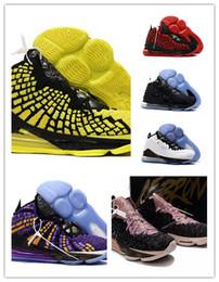 LeBron Herren 17 Basketballschuhe Oreo Schwarz Weiß Laker Lila Gold Gelb Kinder High Tops neue Basketballschuhe mit Box Größe 7 ~ 12 von Fabrikanten