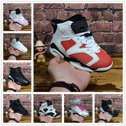 uk availability 4d9b2 db486 nike air jordan aj6 En gros Nouveau Discount Enfants 6 bébé Chaussures De  Basket-ball unc or noir rouge enfant 6s Garçons Sneakers Enfants Sports  baskets ...