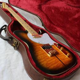2019 private aktiengitarren Freie shipping / 2-Sunset Farbe / Basswood Karosserie / Ahorn Griffbrett / TUFF DOG TELE E-Gitarre 6 Schnur E-Gitarre / mit Fall