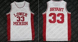 9adfe0b623c Cheap custom Mens Kobe Bryant Lower Merion High School 33 Basketball Jersey  Stitched Customize any name number MEN WOMEN YOUTH JERSEY XS-5XL women s ...