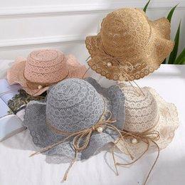 Vintage Summer Beach Trilby Fedora Straw Wide Brim Hollow Cap Sun Hat Style Yulu
