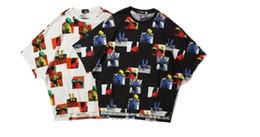Canada T-shirt à manches courtes couleur chic style Hong Kong pour hommes et femmes bf vent pays marée rue marée rue hip-hop carte demi-manche Offre