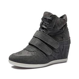 2019 корейская мода клин обувь Горячая распродажа-молодые дамы женщин формальный Клин корейский стиль кожа мода кроссовки шнуровке спортивная обувь скидка корейская мода клин обувь