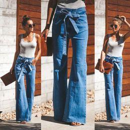 2019 jeans rosa caldi Pantaloni a vita bassa da donna Jeans attillati a vita alta Jeans larghi Pantaloni svasati larghi