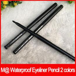 Linee di occhio marrone nero online-EyeLip fodera kajal M @ Trucco dell'occhio matita di sopracciglio ruotabile Eyeliner matita automatica impermeabile nero / marrone 2 colori