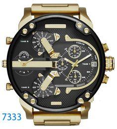 Marca de relógios de luxo Esporte militar montres mens novo reloj original grande mostrador de discagem relógios dzels dz7331 dz7312 dz7315 dz7333 de