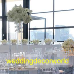 Diseño de jarrón hecho a mano online-Diseños hechos a mano del florero cristalino del nuevo diseño del estilo del estilo para la decoración de la boda decor1121