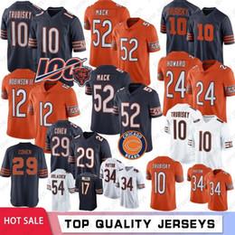 Parches de jersey online-52 Khalil Mack Chicago jerseys oso Patch 100a 39 Eddie Jackson 58 Smith 54 Urlacher 34 Payton 29 Tarik Cohen 89 Ditka S-XXXL