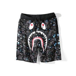xxl animal Desconto Bape Mens Calças Curtas Designer de Moda Mens Hip Hop Impressão Tubarão Calças Calções de Praia Verão Preto M-XXL
