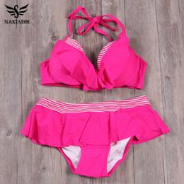 340874c17 NAKIAEOI 2019 New Bikinis Sets Newest Push Up Bikini Set Women Swimwear Mid  Waist Swimsuit Ruffle Sexy Top Swimwear Bathing Suit