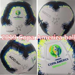 venda final Desconto Vendas Hot 2019 Copa América bola de futebol Final KYIV PU tamanho 5 bolas grânulos de futebol antiderrapante Frete grátis bola de alta qualidade
