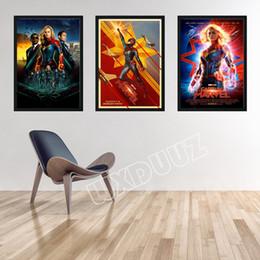2019 decoração da sala da maravilha Capitão Marvel Reying Filme Home Decor Art Decor vivendo Nursery Kids Room arte da parede cartazes pintura da lona K210 desconto decoração da sala da maravilha