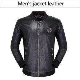 Mode leder motorrad jacken online-NEUE Mode Herren Leder Motorrad Mäntel Jacken verwendet Ledermantel Lederjacke
